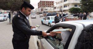 تحرير 1407 مخالفات مرورية وفحص 9 سيارات فى حملة مكبرة بالمنوفية