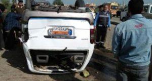 إصابة 8أشخاص فى حادث مروري بالجيزة